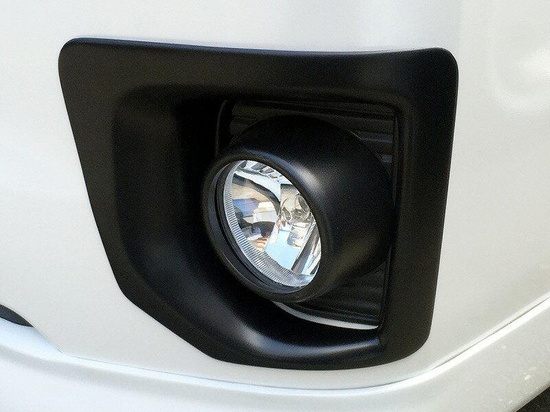 ハイエース フォグカバー 200系 4型 ナロー 標準ボディ マットブラック 左右セット 1台分 セカンドハウス