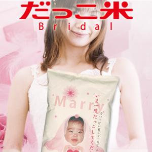 結婚式 ブライダル お米 コシヒカリ 名入れ ギフト gift 両親へのプレゼント だっこ米ブライダル ※赤ちゃんの頃を思い出してもう一度だっこしてください! 出生体重米 こしひかり [送料無料][smtb-KD]