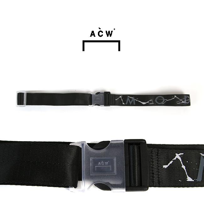 【アウトレットセール】A COLD WALL ア コールド ウォール MODERNIST WEBBING BELT WITH CRACKED PRINT ウェービング ベルト(BLACK) 【ACW-MF19-WBC02】