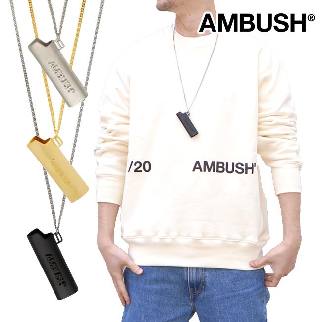 AMBUSH ネックレス ロゴ ライターケースアンブッシュ LOGO LIGHTER CASE NECKLACE(全3色) 箱付き【12112093】