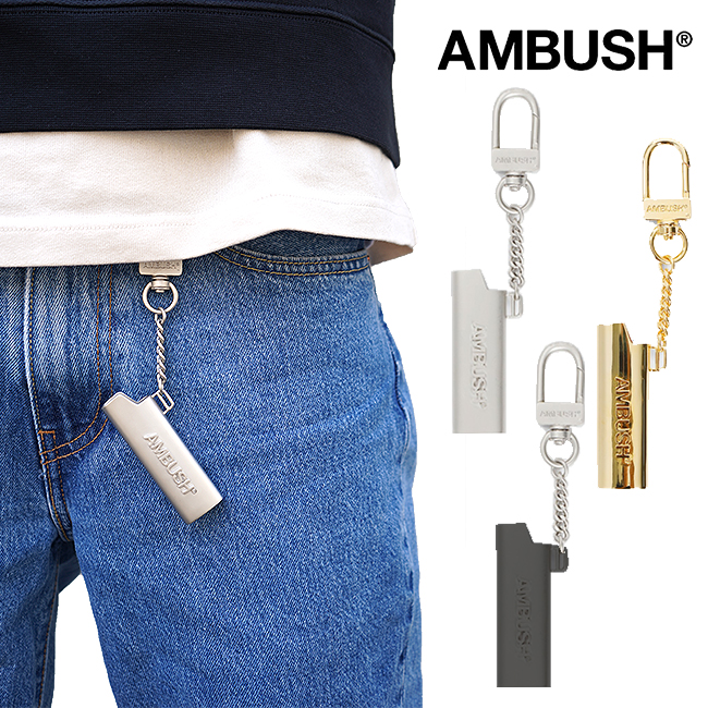 AMBUSH キーチェーン ロゴ ライターケース キーホルダーアンブッシュ LOGO LIGHTER CASE KEY CHAIN(全3色)【12112156】