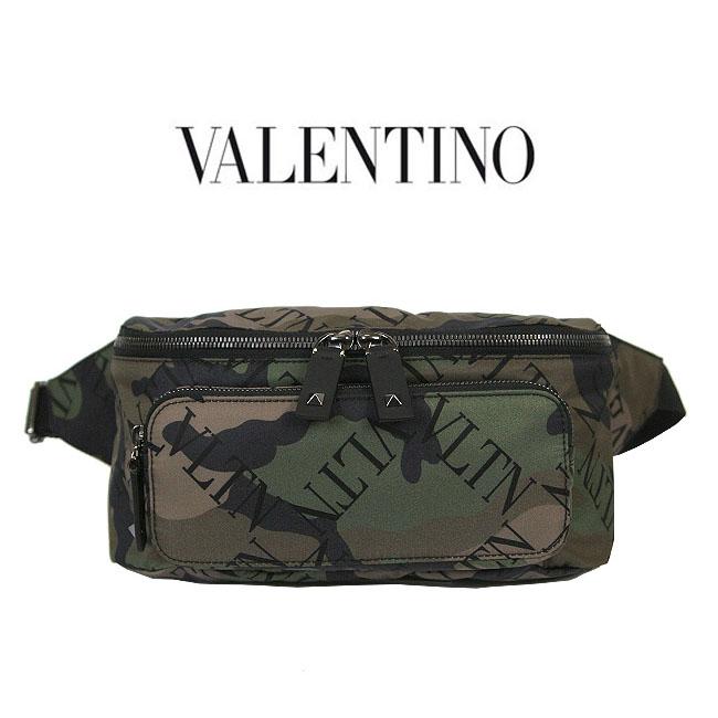 Valentino VLTN ウエストポーチ ヴァレンチノ バッグ カモフラージュ ロゴ ウエストポーチ バレンチノ ウエストバッグ VALENTINO GARAVANI belt bag (Y28 / ARMY GREEN)【RY0B0765LPE】