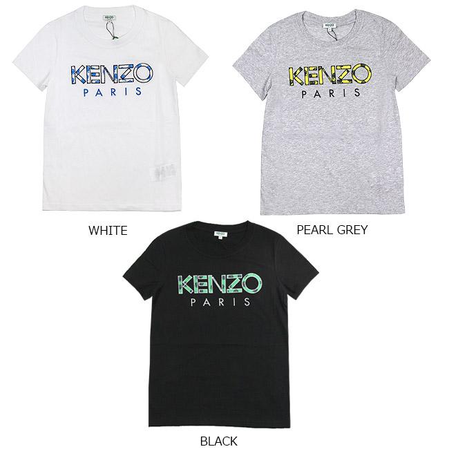 9dd8ae0646 Kenzo T-shirt KENZO Lady's logo T-shirt KENZO Paris 'Roses' T-Shirt (all  three colors)