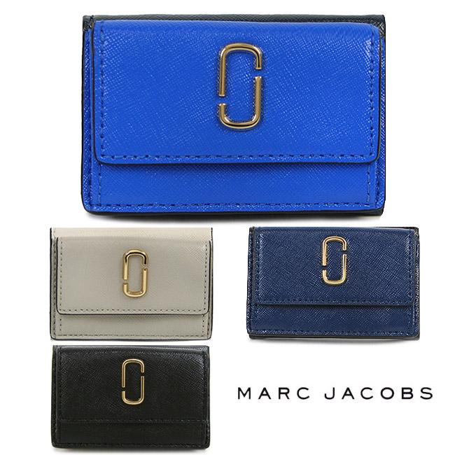 マークジェイコブス 財布 MARC JACOBS 三つ折り財布 レディース コンパクト財布 三つ折り Snapshot Mini Trifold (全4色)【M0014492】