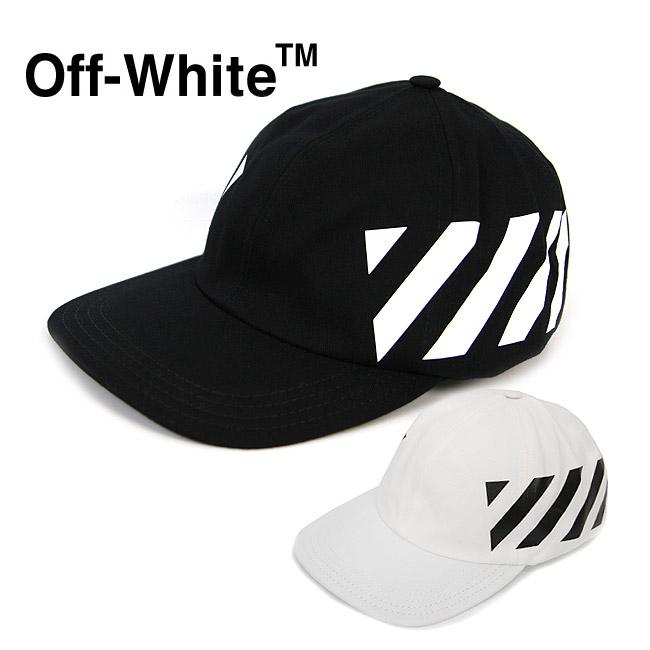 OFF-WHITE キャップ オフホワイト ベースボールキャップ DIAG BASEBALL CAP(全2色)【OMLB008R19400032】