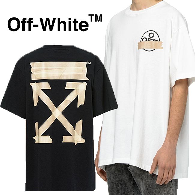 OFF-WHITE Tシャツ オフホワイト メンズ 半袖 アロー TAPE ARROWS OVER S/S TEE(全2色)【OMAA038R20185002】
