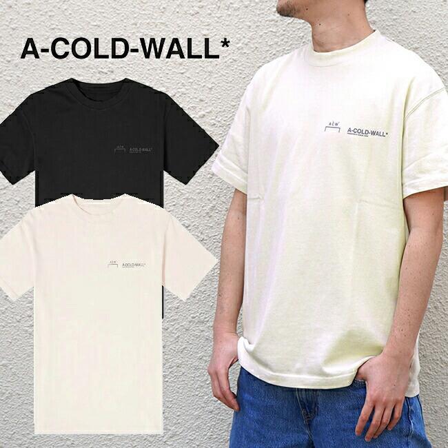 2020SS 10%OFF A COLD WALL ア コールド ウォール Tシャツ ACW TEE LOGO CREWNECK T-SHIRT リフレクタープリント (全2色) 【ACW-MTS001WHL】