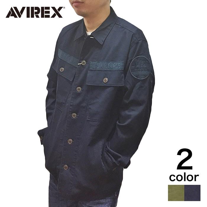 【期間限定20%割引中】【AVIREX】メンズ トップス シャツ 長袖 USAF70s BDU SH カーキ ネイビー