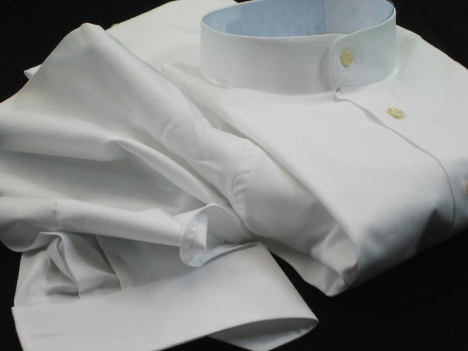 ★イタリアシャツ白 DAN ROMA マオカラーシャツ HASTING BIANCA No23