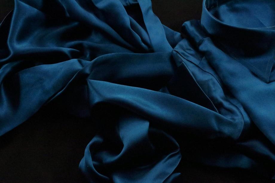 ★表示価格より10%OFF★シルクシャツメンズ★イタリアシルクシャツDAN ROMA 普通衿 SILK SATIN VERDE BLU 3000_78