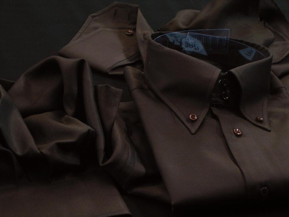 ★表示価格より10%OFF★イタリアシャツ DANROMA ドゥエボットーニ SPORTIVO 直輸入ボタンダウンBROADWAY MARRONE
