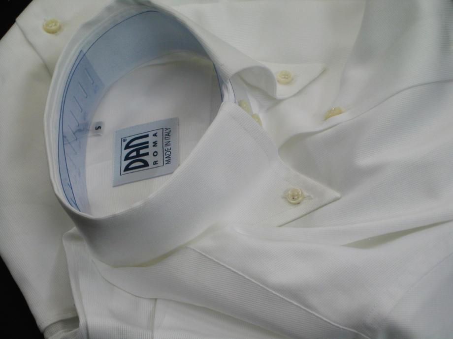 ★表示価格より10%OFF★イタリアシャツ白 DANROMA ドゥエボットーニ PIQUET BIANCA清涼清潔感満載!魅惑のピケビアンカ