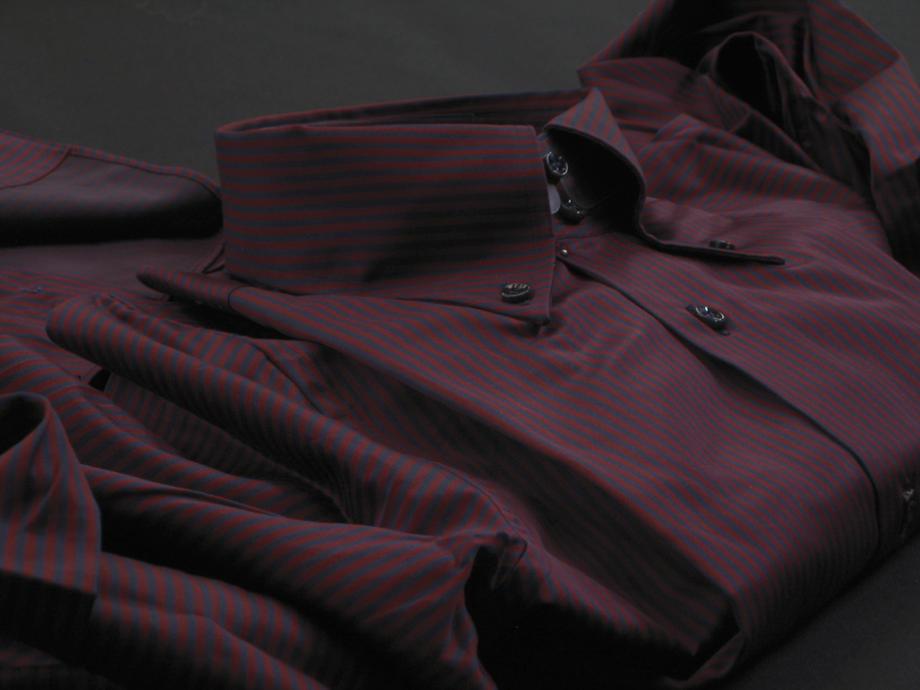 ★表示価格より10%OFF★イタリアシャツ DANROMA ドゥエボットーニ SPORTIVOESCLUSIVE NAMUR_RIGATO ROSSO