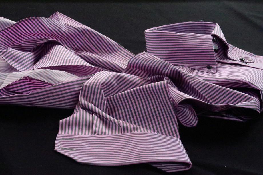 ★表示価格より40%OFF★イタリアシャツ DANROMA ドゥエボットーニ SPORTIVO ESCLUSIVE NAMUR_064 RIGATO VIOLAesclusivo DA-47-032
