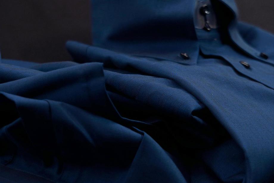 ★イタリアシャツ DANROMA ドゥエボットーニ TESTA BOLSENA 5U01_D92 HERRIGBONE