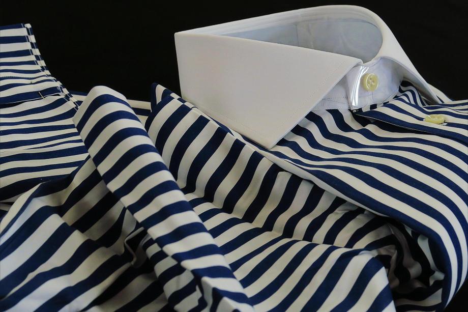 ★FACEBOOK_57 Collo polsi bianchi riga nuova su misura ★LIMITED EDITION SU MISURA 少数限定品です