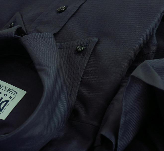 ★表示価格より10%OFF★イタリアシャツ専門店 DAN ROMA 直輸入ボタンダウンドゥエボットーニ OXFORD ORTA CASTELLO BLU SCURO 70231_47フロント前立て D'AVANTI CANNELLO