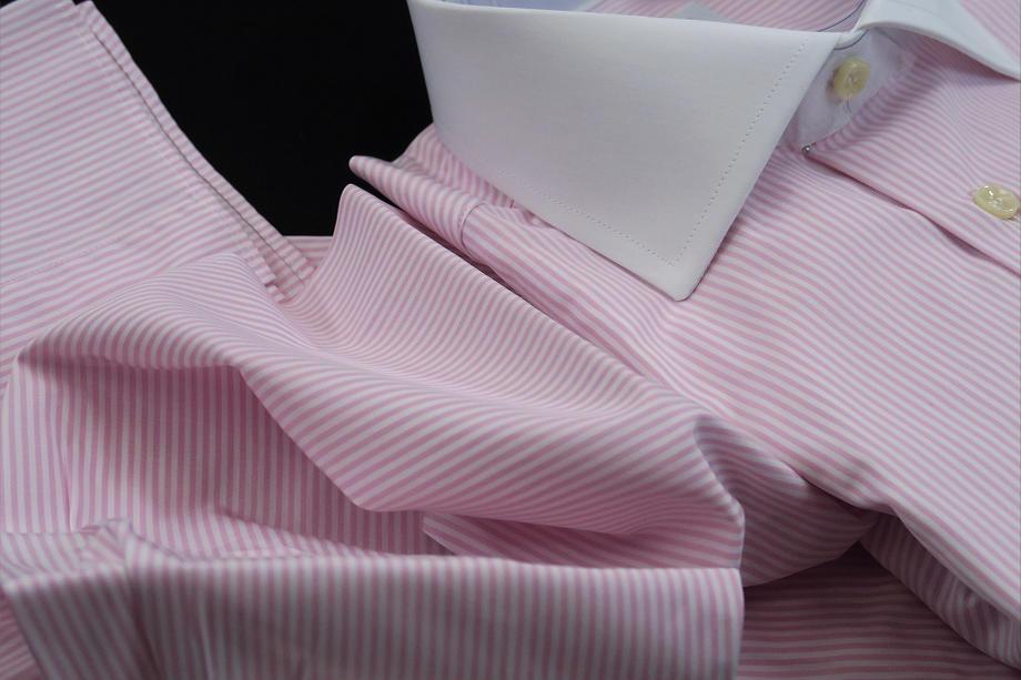 ★正統派淡くもくっきりピンクなストライプ SKY ROSA RIGATO_154_62