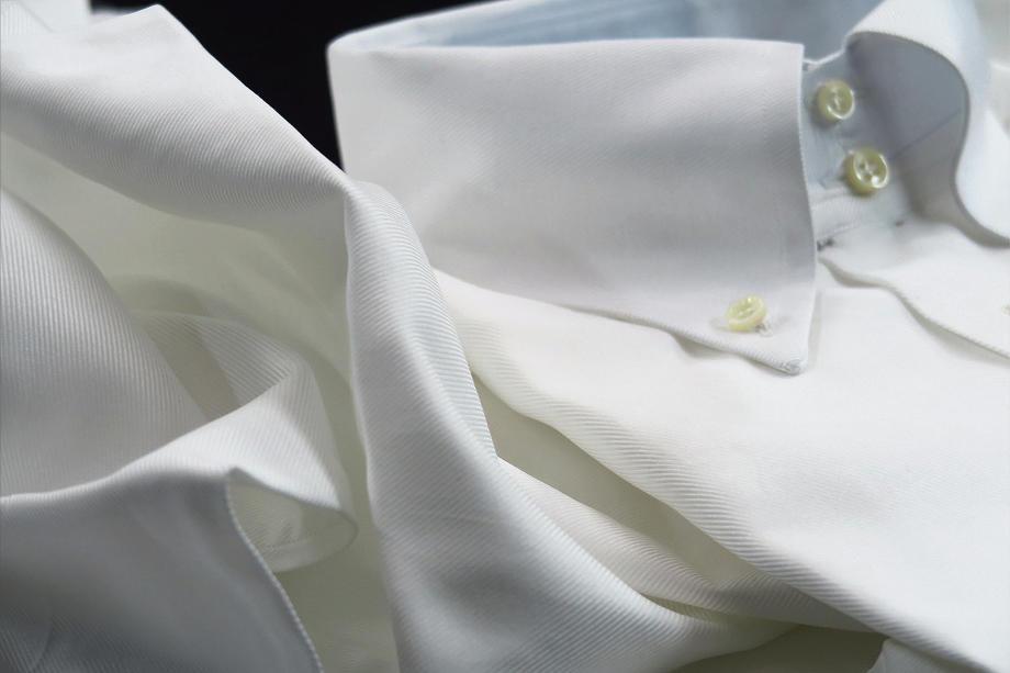 ★現品限定11月限りの特別価格★イタリアシャツ白 DANROMA ボタンダウン DUEBOTTONI STRESA TWILL BIANCA
