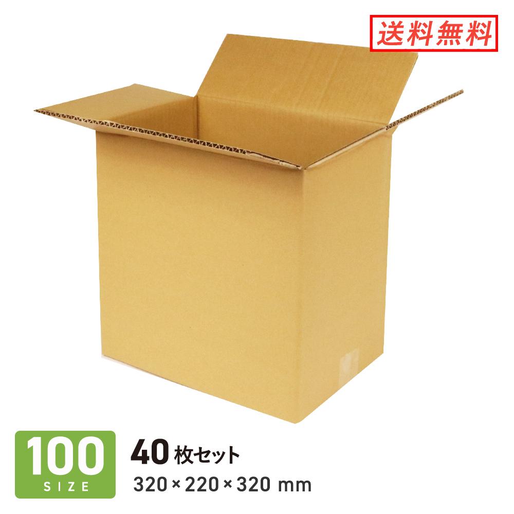 レコードの収納や発送に便利 ダンボール 段ボール箱 宅配100サイズ おすすめ mm 320×220×深さ320 40枚セット LPレコード50枚用 卓抜