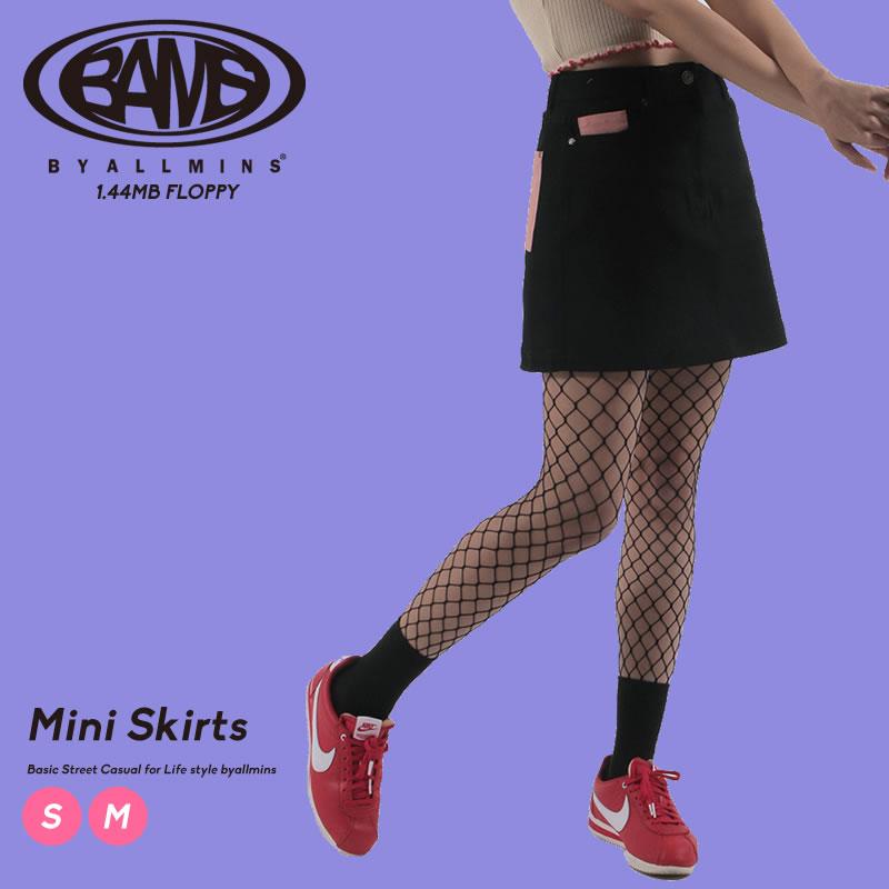 ポケットのポイント配色がユニークなミニスカート Byallmins バイオールミンズ マーケティング アイテム勢ぞろい スカート 台形スカート タイトスカート Hラインスカート 韓国服 オルチャンファッション ファッション プチプラ 韓国 ブランド