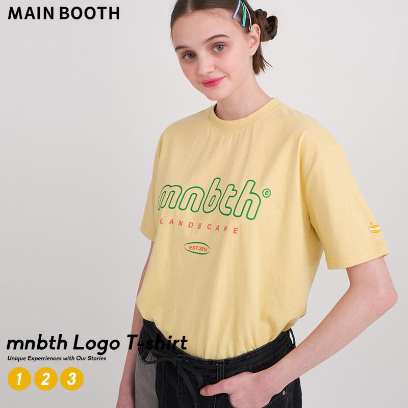 カラーリングとロゴプリントがトレンド感満載なTシャツ 開催中 メール便対応 MAIN BOOTH メインブース ペア tシャツ 半袖 大幅にプライスダウン おそろ 韓国 ペアルック オルチャンファッション カップル ブランド 韓国服 プチプラ ロゴ ファッション