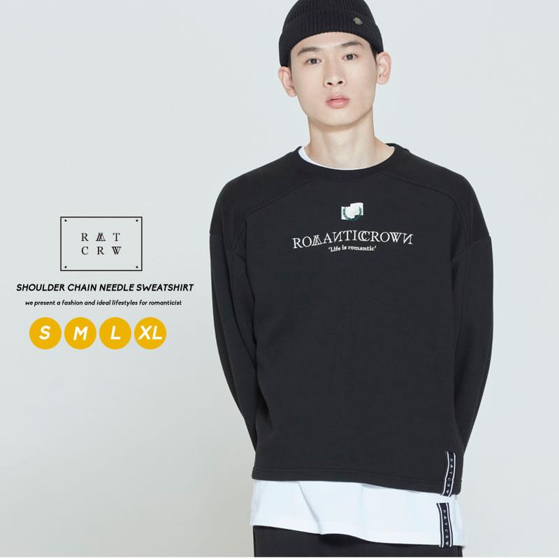 公式ショップ ロマンティッククラウンならではの色使いとロゴが魅力のスウェット 新作 大人気 ROMANTIC CROWN ロマンティッククラウン スウェット ペア トップス お揃い スエット クロップド丈 レイヤード コットン カットソー ブランド レディース ロゴ 長袖 ファッション 韓国 オルチャンファッション メンズ プチプラ カップル 韓国服 ユニセックス