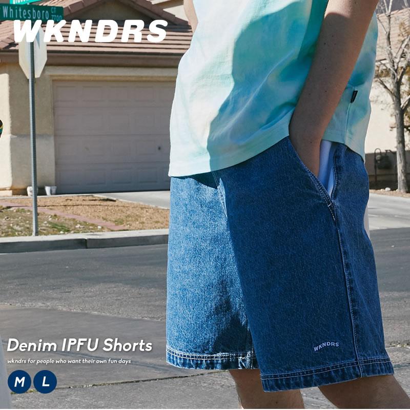 WKNDRS ウィークエンダーズ メンズ ハーフデニムパンツ ワイドショーツ 防風 速乾性 綿100% コットン100% 韓国 ファッション ブランド ストリート オルチャンファッション 韓国服 デイリーコーデ koreaQdEeWxoCBr