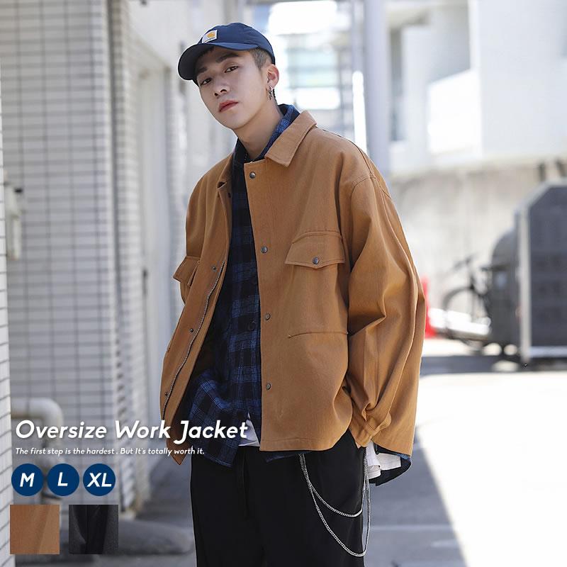 オーバーサイズ感のある大人の韓国ワークファッション 注文後の変更キャンセル返品 メンズ ワークジャケット 倉庫 カバーオール 韓国ファッション 秋冬 作業服 オーバーサイズ 韓国服 作業着 おしゃれ ストリート オルチャンファッション