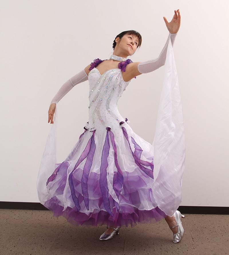 ダンスドレス モダン WQ-MD10-1 本州送料無料 オーダードレス ダンスパーティー 衣装 ダンス衣装 社交ダンス モダン 女性 ドレス