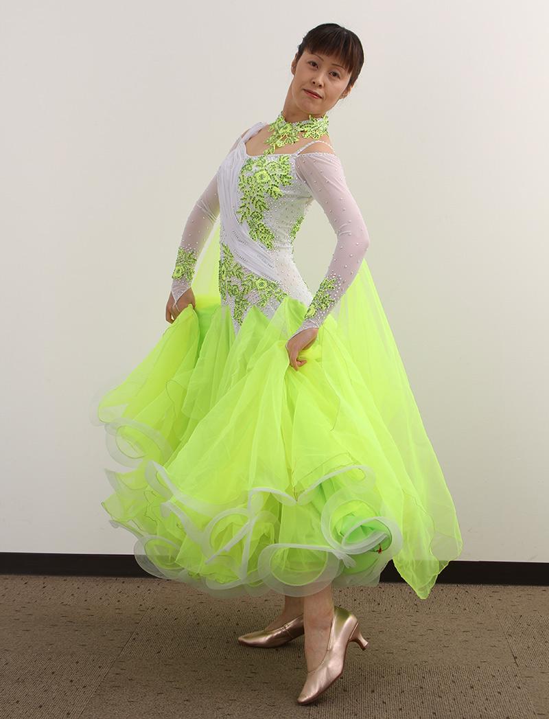 ダンスドレス モダン WQ-MD3-1 本州送料無料 オーダードレス ダンスパーティー 衣装 ダンス衣装 社交ダンス モダン 女性 ドレス