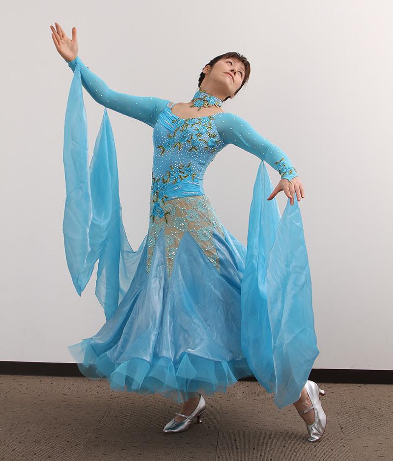 ダンスドレス モダン WQ-MD7-1 本州送料無料  衣装 ダンス衣装 社交ダンス モダン 女性 ドレス ダンスシューズのモニシャン