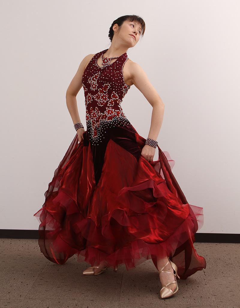 ダンスドレス モダン DWQ-MD9-2《即納品》 ダンスパーティー 衣装 ダンス衣装 社交ダンス モダン 女性 ドレス ダンスシューズのモニシャン
