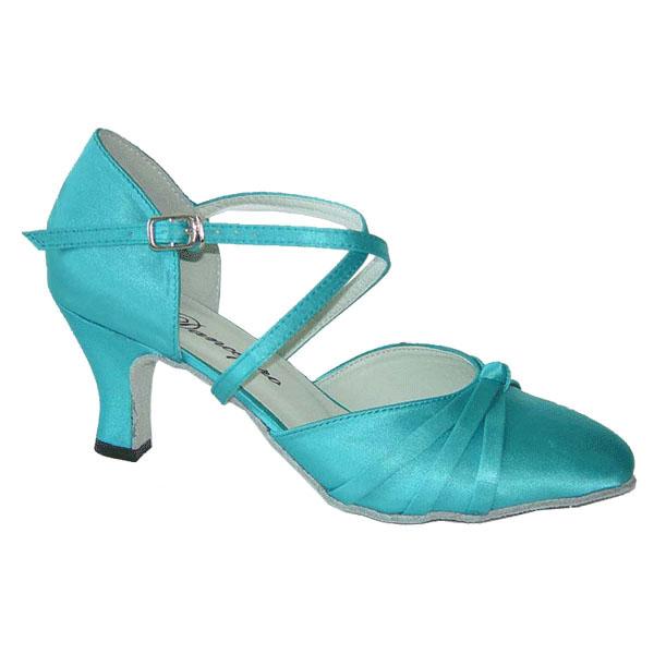 ダンスシューズ・社交ダンスシューズ・レディース【セミオーダー】女性兼用シューズ・ブルー683605セミオーダー品ですのであなたにぴったりの1足がつくれますよ♪