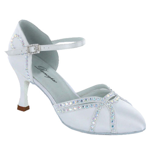 ダンスシューズ・社交ダンスシューズ・レディース【セミオーダー】女性兼用シューズ・ホワイト(白)685402セミオーダー品ですのであなたにぴったりの1足がつくれますよ♪