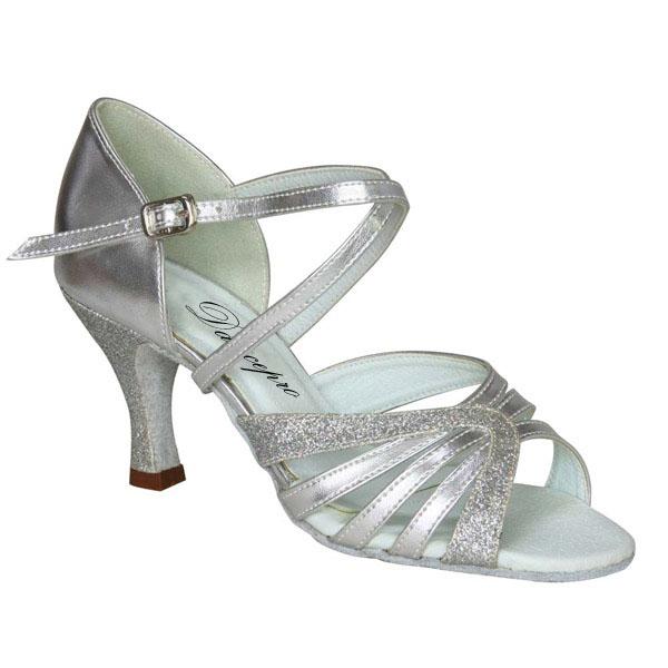 ダンスシューズ・社交ダンスシューズ・レディース【セミオーダー】女性ラテンシューズ・シルバー・ラメ166802セミオーダー品ですのであなたにぴったりの1足がつくれますよ♪