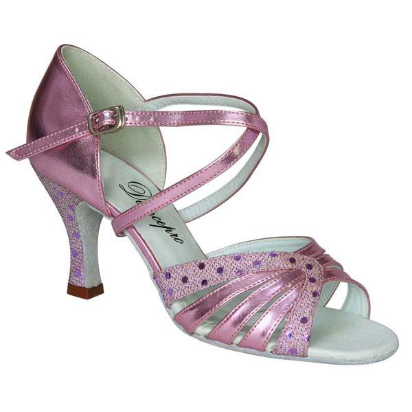 ダンスシューズ・社交ダンスシューズ・レディース【セミオーダー】女性ラテンシューズ・ピンク166803セミオーダー品ですのであなたにぴったりの1足がつくれますよ♪