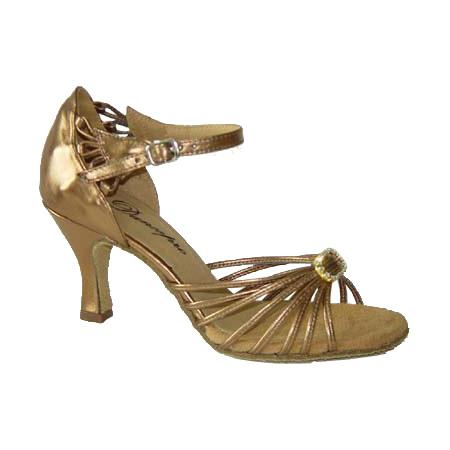 ダンスシューズ・社交ダンスシューズ・レディース【セミオーダー】女性ラテンシューズ・ブラウン167104セミオーダー品ですのであなたにぴったりの1足がつくれますよ♪