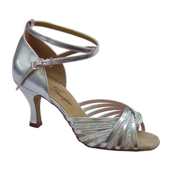 ダンスシューズ・社交ダンスシューズ・レディース【セミオーダー】女性ラテンシューズ・シルバー168610セミオーダー品ですのであなたにぴったりの1足がつくれますよ♪