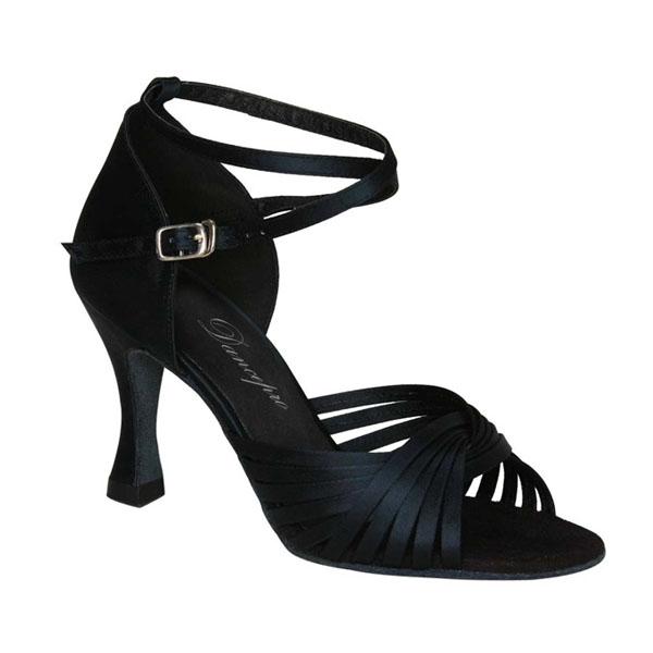 ダンスシューズ・社交ダンスシューズ・レディース【セミオーダー】女性ラテンシューズ・黒ブラック168614セミオーダー品ですのであなたにぴったりの1足がつくれますよ♪