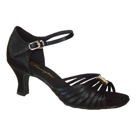 ダンスシューズ・社交ダンスシューズ・レディース【セミオーダー】女性ラテンシューズ・黒ブラック171203セミオーダー品ですのであなたにぴったりの1足がつくれますよ♪
