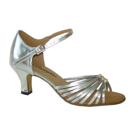 ダンスシューズ・社交ダンスシューズ・レディース【セミオーダー】女性ラテンシューズ・シルバー171204セミオーダー品ですのであなたにぴったりの1足がつくれますよ♪