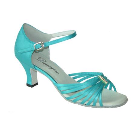 ダンスシューズ・社交ダンスシューズ・レディース【セミオーダー】女性ラテンシューズ・ブルー171205セミオーダー品ですのであなたにぴったりの1足がつくれますよ♪