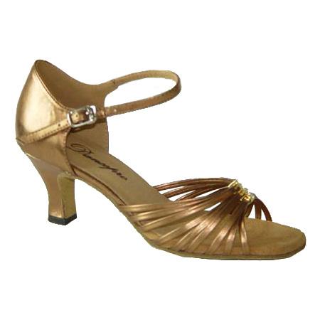 ダンスシューズ・社交ダンスシューズ・レディース【セミオーダー】女性ラテンシューズ・茶ブラウン171209セミオーダー品ですのであなたにぴったりの1足がつくれますよ♪