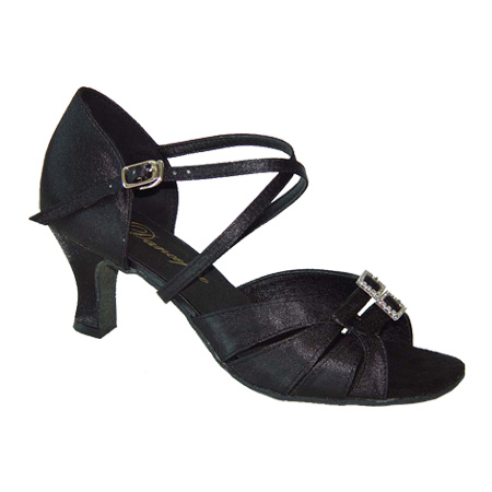 ダンスシューズ・社交ダンスシューズ・レディース【セミオーダー】女性ラテンシューズ・黒ブラック172402セミオーダー品ですのであなたにぴったりの1足がつくれますよ♪