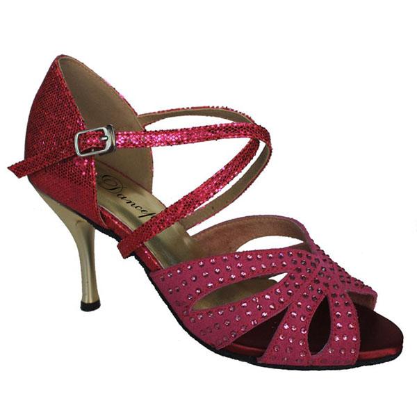 ダンスシューズ・社交ダンスシューズ・レディース【セミオーダー】女性ラテンシューズ・ピンク177601セミオーダー品ですのであなたにぴったりの1足がつくれますよ♪