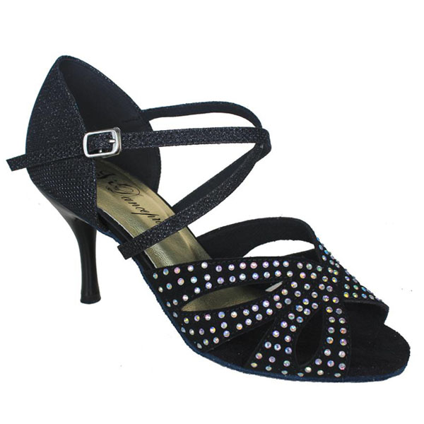 ダンスシューズ・社交ダンスシューズ・レディース【セミオーダー】女性ラテンシューズ・黒ブラック177602セミオーダー品ですのであなたにぴったりの1足がつくれますよ♪
