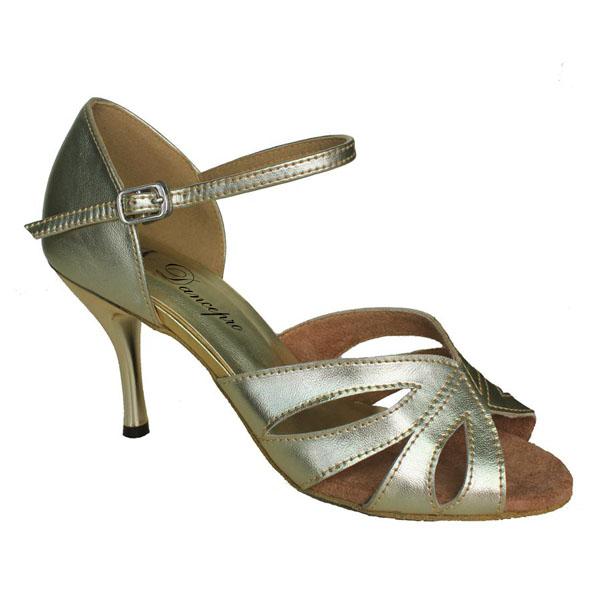 ダンスシューズ・社交ダンスシューズ・レディース【セミオーダー】女性ラテンシューズ・ゴールド177701セミオーダー品ですのであなたにぴったりの1足がつくれますよ♪