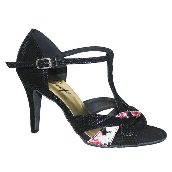 ダンスシューズ・社交ダンスシューズ・レディース【セミオーダー】女性ラテンシューズ・黒ブラック177903セミオーダー品ですのであなたにぴったりの1足がつくれますよ♪