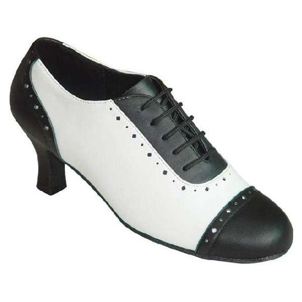 ダンスシューズ・社交ダンスシューズ・レディース【セミオーダー】女性ティーチャーズシューズ・白黒200701セミオーダー品ですのであなたにぴったりの1足がつくれますよ♪